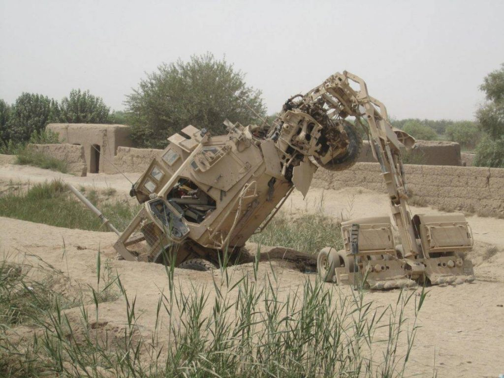 Pese a sufrir algunos problemas operativos y de mantenimiento, los Oshkosh M-ATV demostraron que eran confiables a la hora de hacer frente a los IEDs. Foto: Internet.