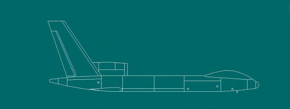 Dibujo especulativo del UAV 'Águila Divina'. Imagen:  Internet vía CJDBY