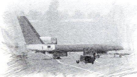 Imagen de la posible cola, al parecer se le aplico un filtro digital, del nuevo UAV HALE de doble fuselaje de SAC. Imagen: Internet Via CJDBY