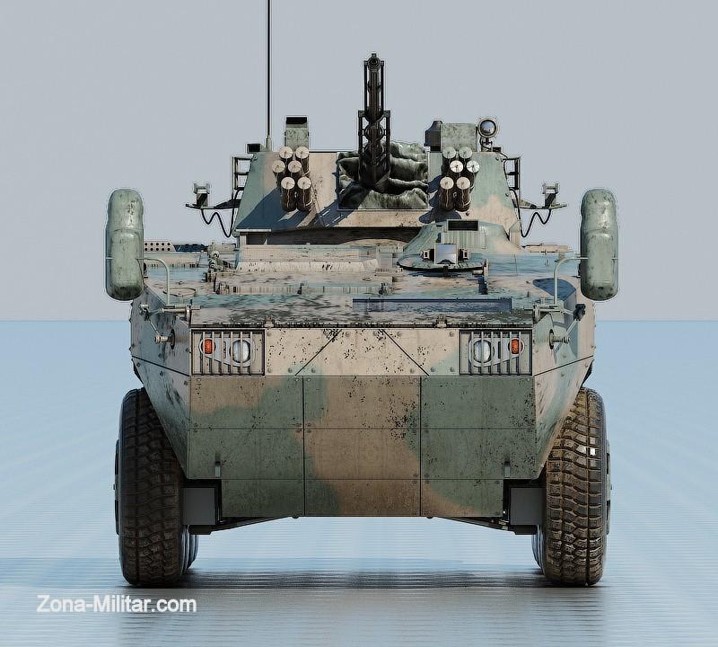 Interpretación digital del VCBR VN-1 del Ejército Argentino. Imagen - Alejandro Klichowski.