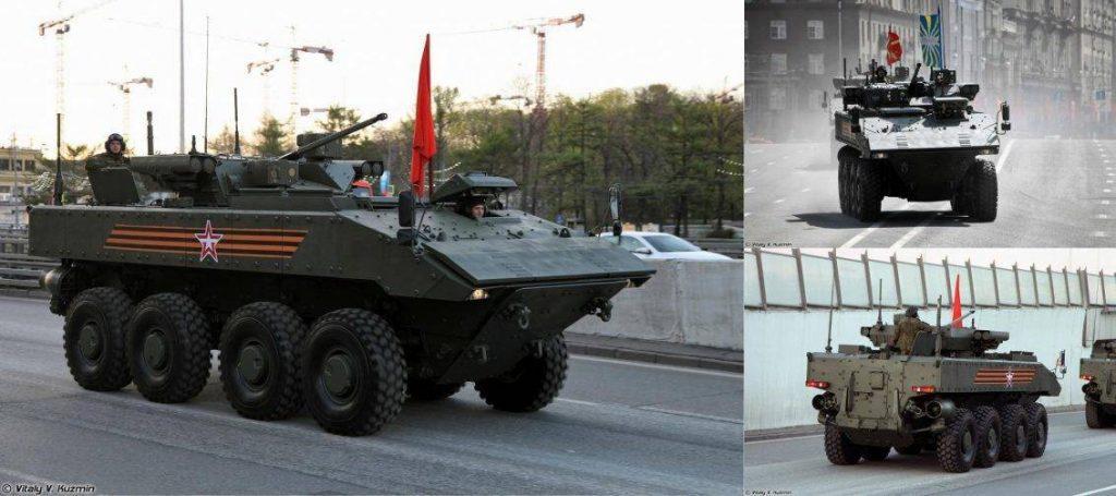 Diferentes vistas del VCBR Boomerang 8x8. Imagen: Vitaly Kuzmin