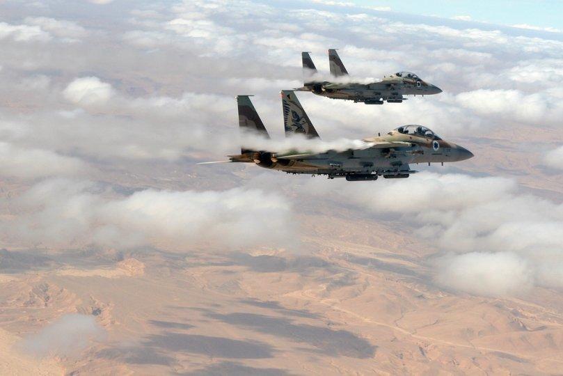 Pareja de F-15I Ra'am en vuelo. Imagen: IDF AF.