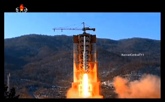 Captura del video oficial del lanzamiento del Unha-4. KCTV