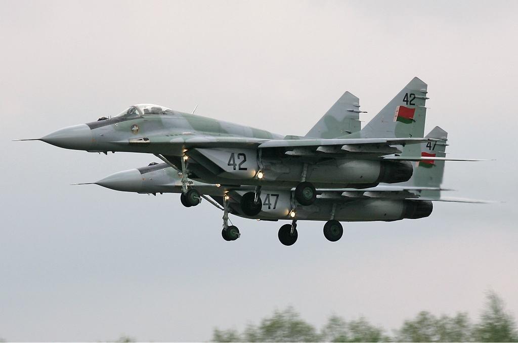 Mikoyan-Gurevich MiG-29S (9.13) de la Fuerza Aérea de Bielorrusia