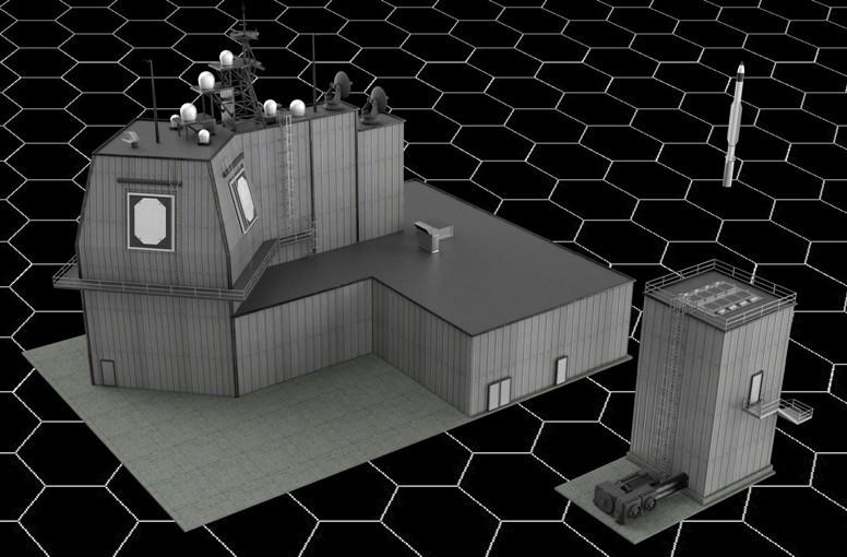 Sistema AEGIS ashore: Estación de radar, VLS MK.41 e interceptor SM-3 IB. Gráfico: Rober Digiorge.