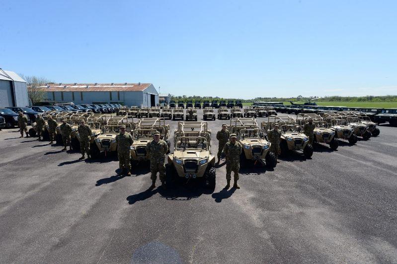 Presentación de los Polaris MRZR-4 adquiridos por el Ejército Argentino. Imagen: EA.